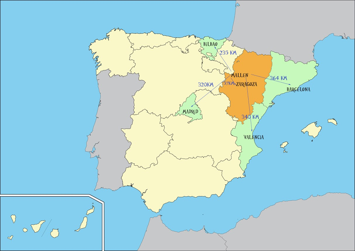 Vector map of spain with their autonomous communities