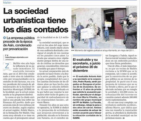 Artículo publicado en el periódico de Aragón (5/06/2016)